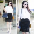 Thời trang - Trà Ngọc Hằng trắng tinh khôi ở sân bay
