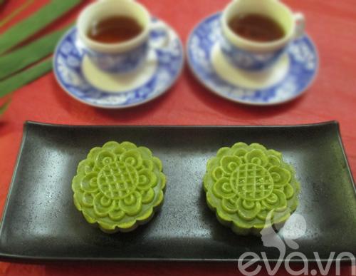 Bánh Trung thu trà xanh nhân đậu xanh - 10