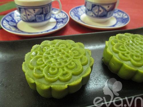 Bánh Trung thu trà xanh nhân đậu xanh - 11