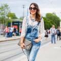 Thời trang - 1 chiếc quần yếm và 3 phong cách thu