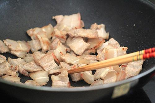 Thịt ba chỉ xào ớt chuông ngon cơm - 2