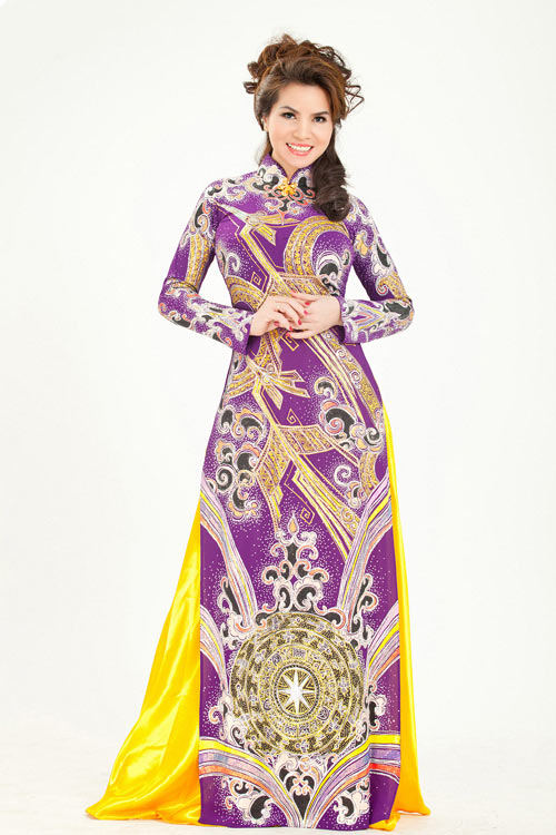 hoa hau kim hong sang trong voi ao dai long phung - 2