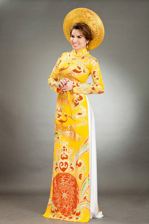 hoa hau kim hong sang trong voi ao dai long phung - 4