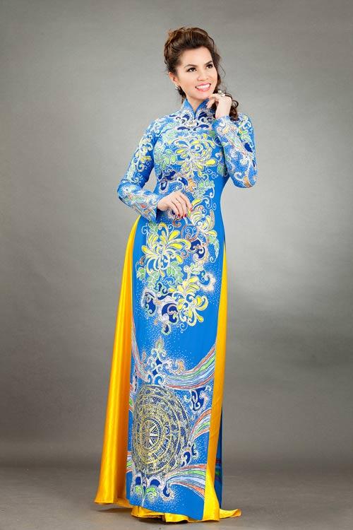 hoa hau kim hong sang trong voi ao dai long phung - 10