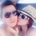 Làng sao - Vợ chồng Đăng Khôi hôn nhau lãng mạn trên du thuyền