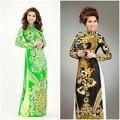 Làng sao - Hoa hậu Kim Hồng sang trọng với áo dài long phụng