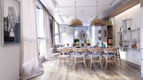 13 mẫu bếp - phòng ăn tiện nghi , đẹp mắt - 1