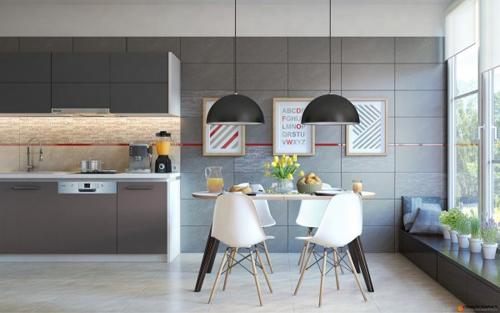 13 mẫu bếp - phòng ăn tiện nghi , đẹp mắt - 3