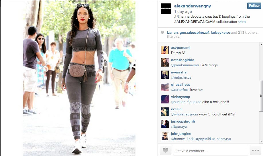 rihanna bat ngo mac do h&m hop tac alexander wang - 1