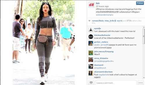 rihanna bat ngo mac do h&m hop tac alexander wang - 2