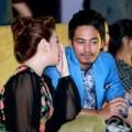 Làng sao - Đan Lê thân mật MC Phan Anh tại sự kiện