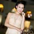 Làng sao - Trương Tùng Lan khoe dáng với đầm ren gợi cảm