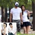 Làng sao - Bạn trai cũ của Thang Duy hôn tình mới trên phố