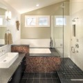 Nhà đẹp - Chiêu hay xử lý phòng tắm nhỏ, méo mó