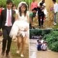 Tình yêu - Giới tính - Đám cưới ngày bão, cô dâu đi... dép tổ ong