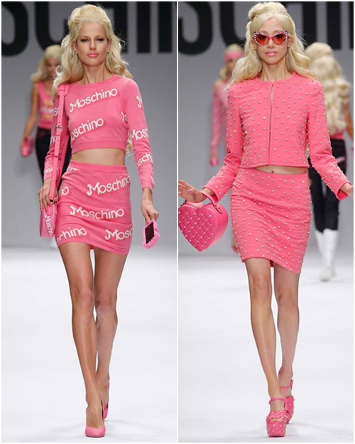 "bup be barbie ""do bo"" san dien cua moschino - 2"