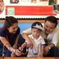 Làng sao - Jacky Minh Trí vui vẻ trong ngày đầu tiên đi học