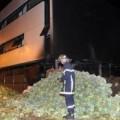 Nông dân Pháp đổ rau trước cơ quan thuế
