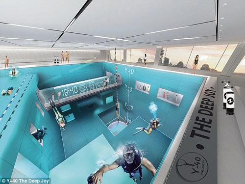 Choáng ngợp bể bơi sâu nhất thế giới - 11