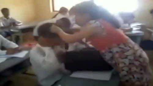 clip: co giao mang bau danh nam sinh toi tap - 1