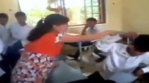 clip: co giao mang bau danh nam sinh toi tap - 3