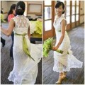 Thời trang - Cô dâu gây xôn xao với váy cưới handmade 600 ngàn đồng