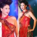 Thời trang - Hà Kiều Anh mặc áo dài mỏng tang gợi cảm