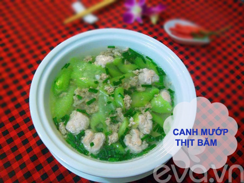 bua com ngon voi tom rang muoi, canh muop - 3