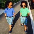 """Thời trang - Cặp nhóc sinh đôi """"gây sốt"""" vì ăn mặc sành điệu"""