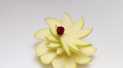 Tỉa hoa táo trong nháy mắt trang trí đĩa ăn-3