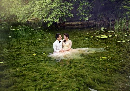 """Bộ hình cưới ngọt ngào của cặp đôi """"mối tình đầu""""-9"""