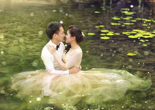 """Bộ hình cưới ngọt ngào của cặp đôi """"mối tình đầu""""-2"""