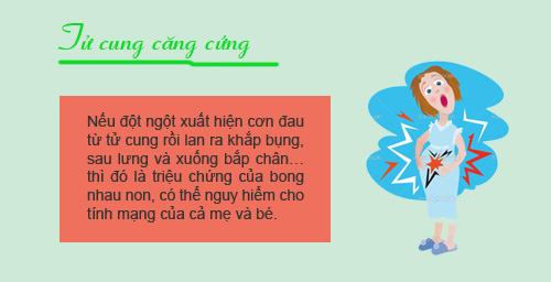 """12 dau hieu bao thai ky cua ban dang """"khong on"""" - 10"""