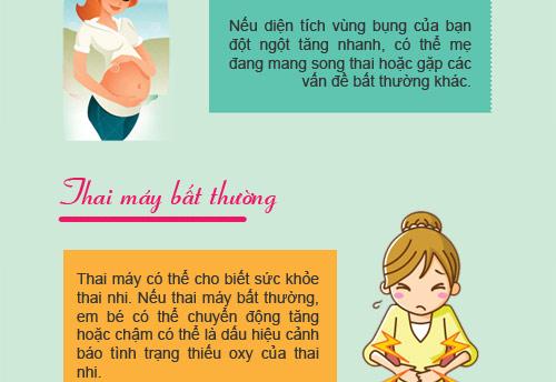 """12 dau hieu bao thai ky cua ban dang """"khong on"""" - 5"""