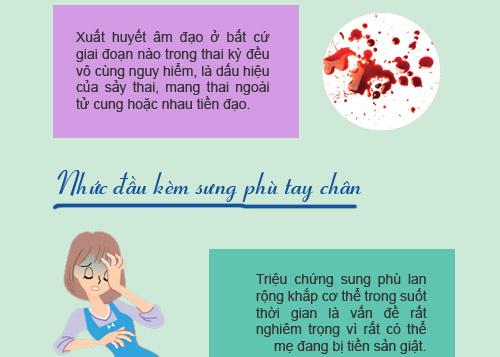 """12 dau hieu bao thai ky cua ban dang """"khong on"""" - 7"""