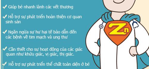 """top thuc pham giau kem """"tri"""" be chan an, cham lon - 3"""