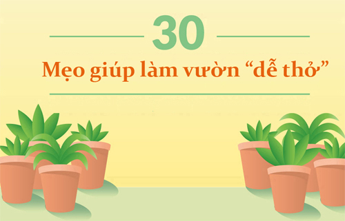 """30 meo vat giup ban lam vuon """"de tho"""" hon (phan 1) - 1"""