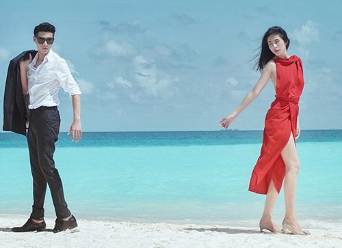thuy tien, noo phuoc thinh dong phim chung tai maldives - 1