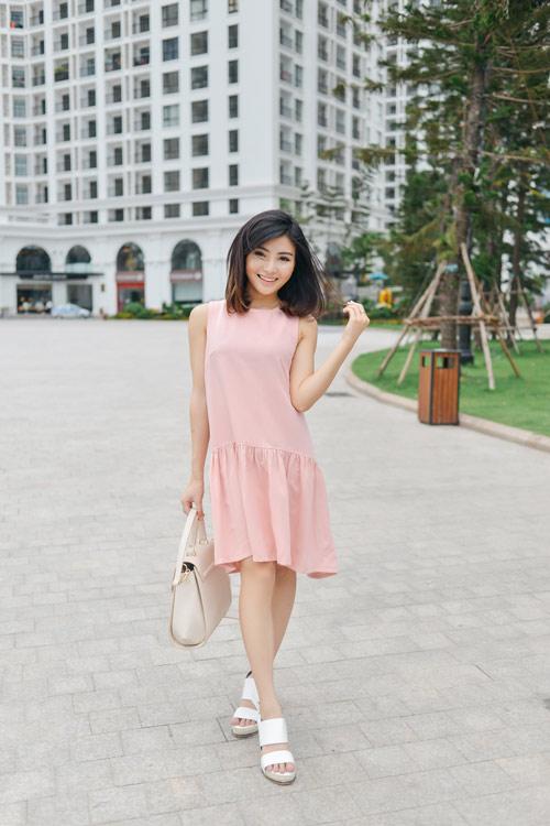 """chon vay ao """"an gian"""" chieu cao cho chan ngan - 2"""
