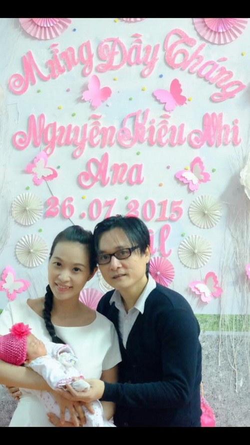 vo chong le kieu nhu khoe con gai 1 thang tuoi - 5