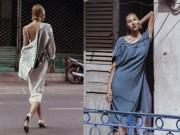 Thời trang - Minh Triệu buông lơi váy áo giữa phố thị Sài Gòn