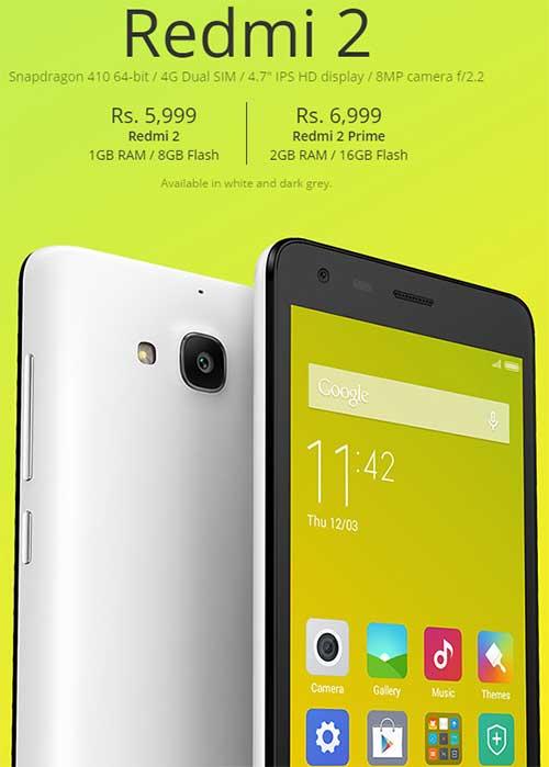 xiaomi chinh thuc ra mat smartphone gia re redmi 2 prime - 1