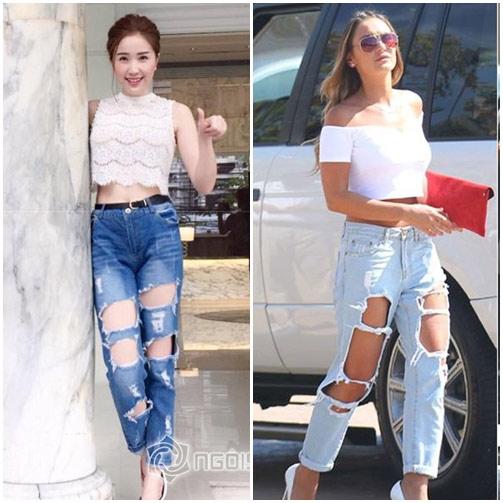 """sao viet do mot quan jeans """"mac nhu khong"""" voi sao ngoai - 10"""