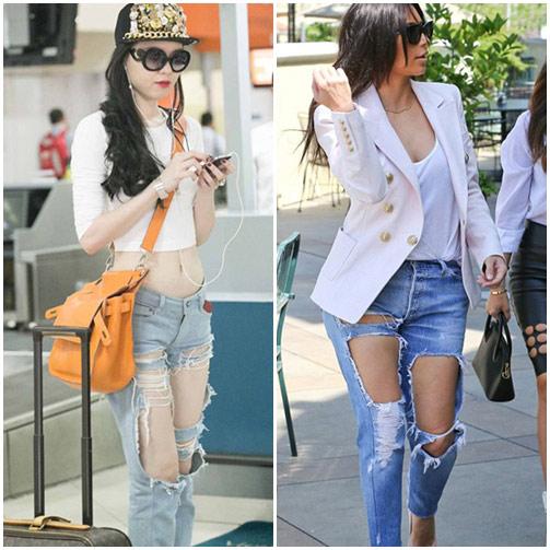 """sao viet do mot quan jeans """"mac nhu khong"""" voi sao ngoai - 2"""