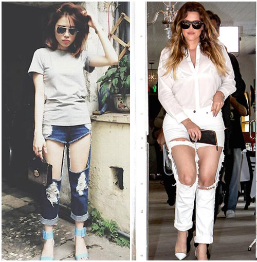 """sao viet do mot quan jeans """"mac nhu khong"""" voi sao ngoai - 7"""
