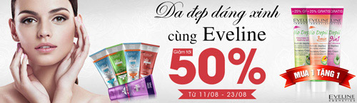 khuyen mai 50% cac san pham cua eveline - 1