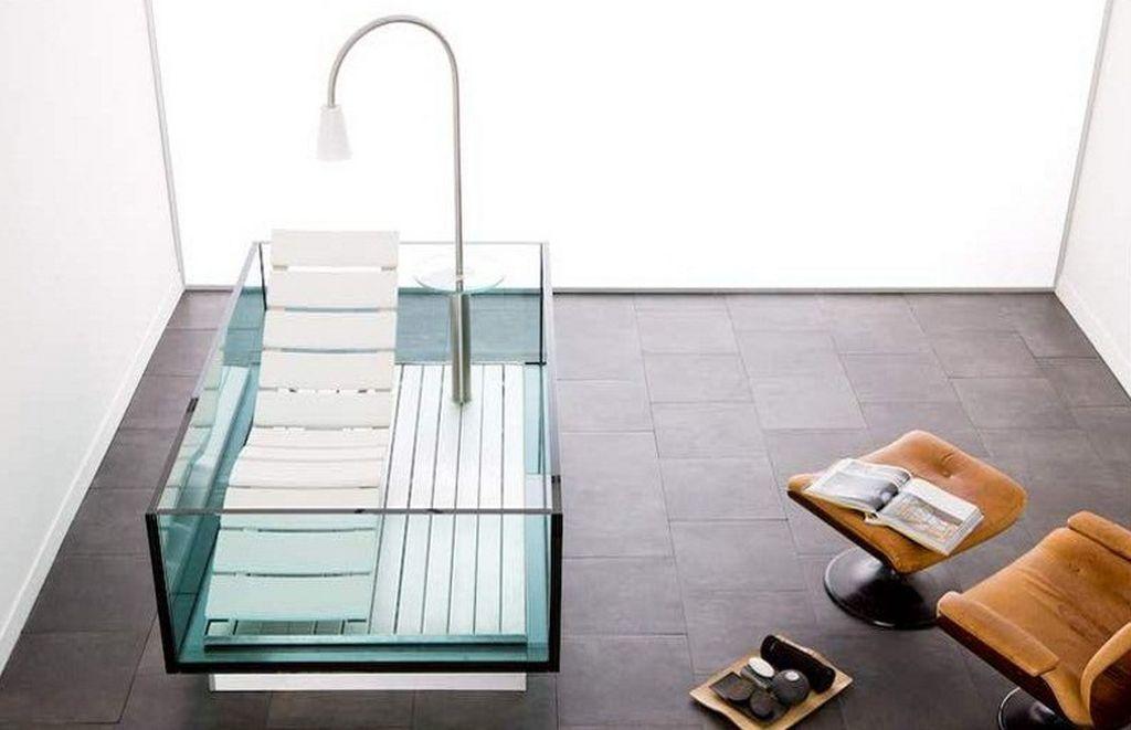 Thoải mái vẫy vùng trong bồn tắm thủy tinh-2