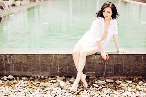 tra giang khoe duong cong hut mat voi bikini - 5