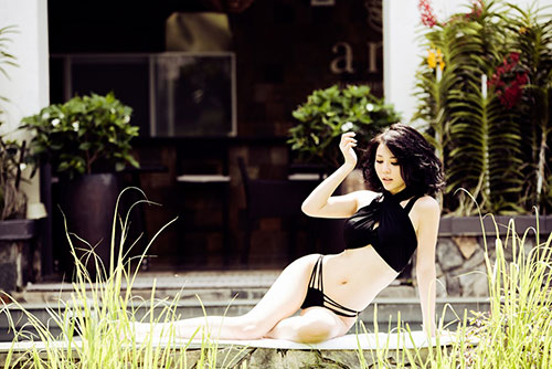 tra giang khoe duong cong hut mat voi bikini - 6