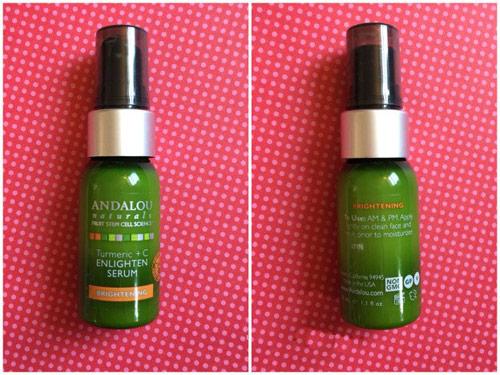 Đánh giá serum làm sáng da Andalou Naturals Turmeric+C Enlighten-5
